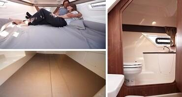 2 kabiny dla 4 osób dorosłych, toaleta morska